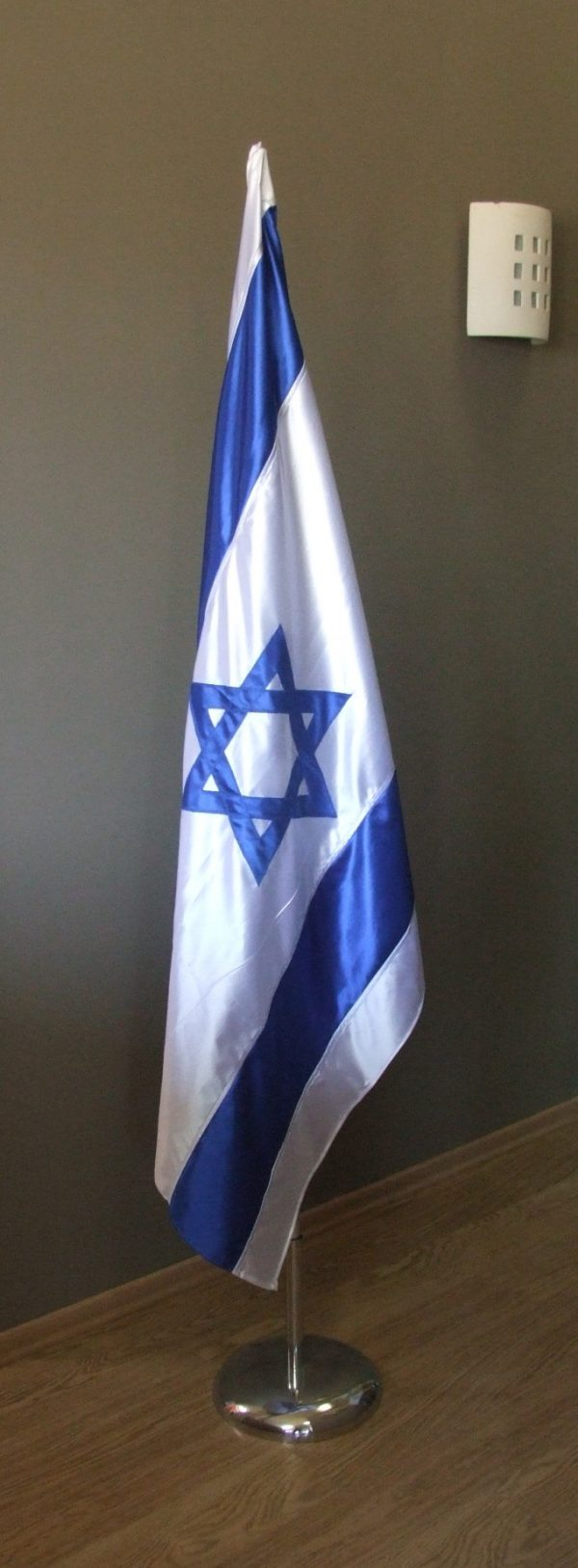 Israeli flag sewn from surf cloth