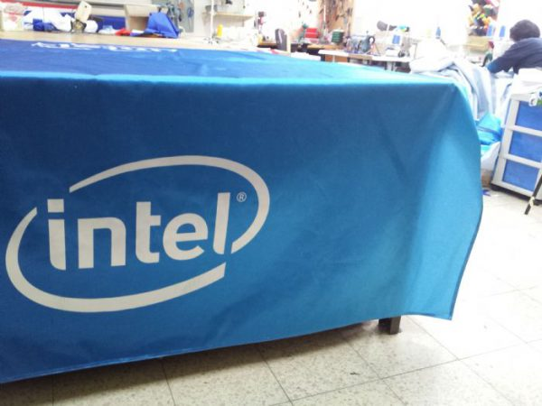 Intel tablecloth printed on 210-by-240 cm stan fabric