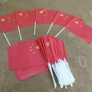Китай размахивая флагом напечатаны на флаг ткани