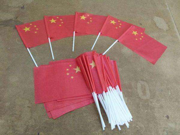 China ondeando la bandera impresa en tela de bandera