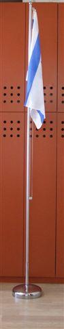 תורן 3-wheel-high mobile mast with pulleys and flexible steel cable with Israeli flag 110*80cm