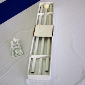 Bandera israelí con varilla de montaje